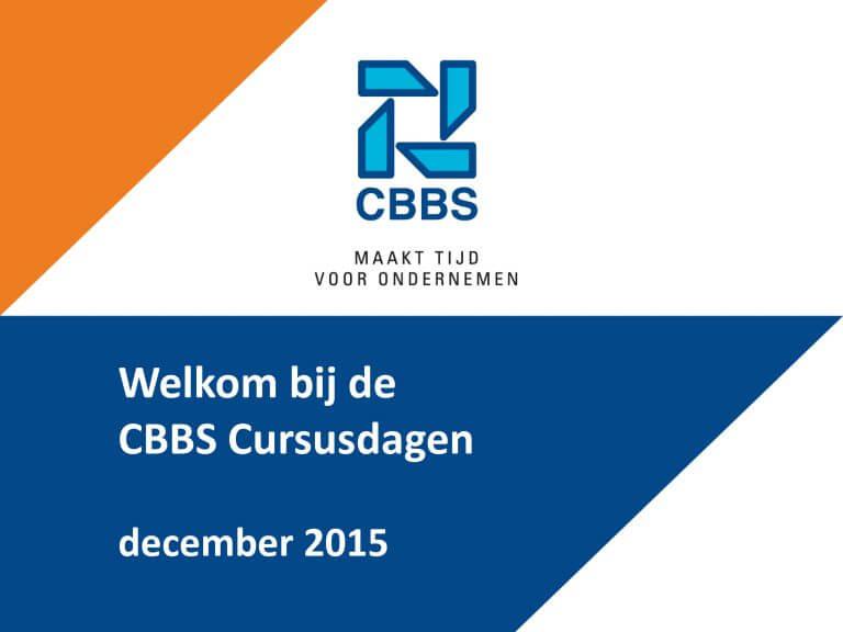 Cursusdagen CBBS: een terugblik